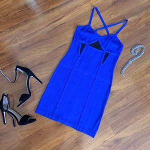 Royal Blue Bodycon Bebe Dress M